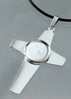 Pendant base : Cross silver plated
