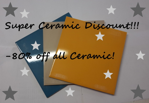<p>Discount on all Ceramic</p>
