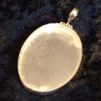 Sterling Silver: Oval pendant base