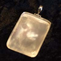Sterling Silver: Rectangle pendant base
