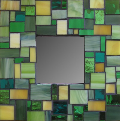 Green Yellow Mirror Mosaic Kit All You Need To Make A Gl Kits Xinamarie Mosaici Hand Made Cut Natural Marble Tiles